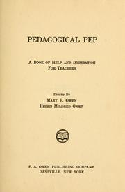 Pedagogical pep; a book of help and inspiration for teachers