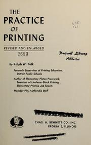 The practice of printing.