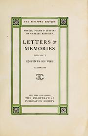 Cover of: Charles Kingsley: His Letters and Memories of His Life