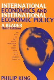 Cover of: International Economics and International Economics Policy | Philip G King