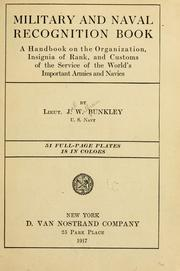 Cover of: Military and naval recognition book | Joel William Bunkley