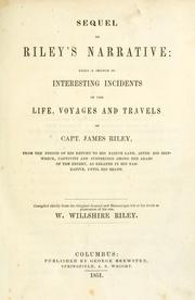 Cover of: Sequel to Riley's Narrative