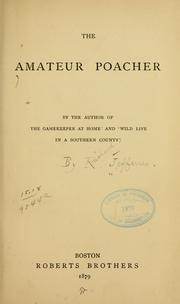 Cover of: The Amateur Poacher