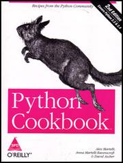 Cover of: Python Cookbook |