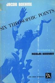 Cover of: Six theosophic points and other writings