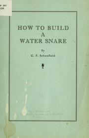 Cover of: How to build a water snare