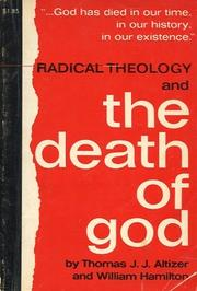 Cover of: Radical theology and the death of God