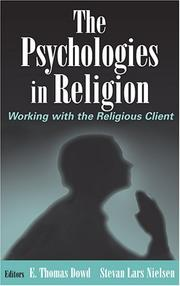 Cover of: The Psychologies in Religion |