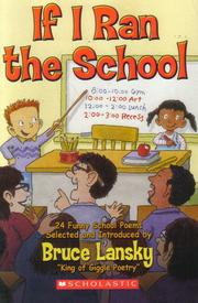 Cover of: If I Ran the School