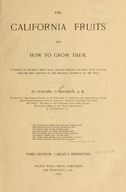 Cover of: The California fruits and how to grow them