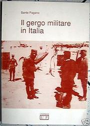 Cover of: Il gergo militare in Italia by Sante Pagano