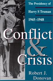 Cover of: Conflict and crisis