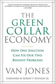 The green-collar economy by Van Jones, Van Jones