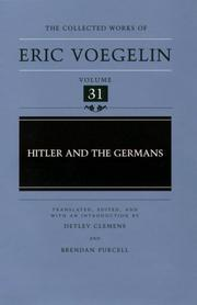 Cover of: Hitler and the Germans (Collected Works of Eric Voegelin, Volume 31)