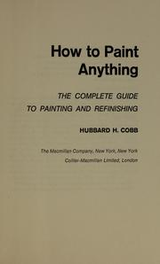 Cover of: How to paint anything
