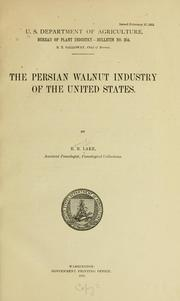 Cover of: The persian walnut industry of the United States