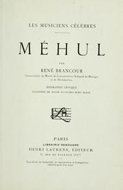 Cover of: Méhul
