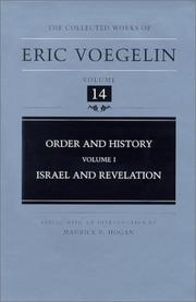 Cover of: Order and History (Volume 1): Israel and Revelation (Collected Works of Eric Voegelin, Volume 14)