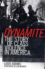 Cover of: Dynamite | Louis Adamic