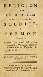 Cover of: Religion and patriotism the constituents of a good soldier
