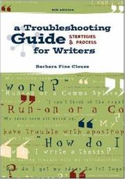 Cover of: Working It Out: A Troubleshooting Guide for Writers