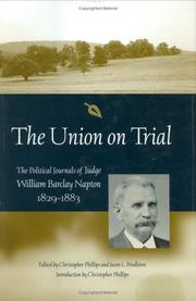 Cover of: The Union on trial | Napton, William Barclay