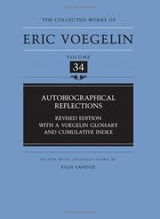 Cover of: Autobiographical Reflections (Collected Works of Eric Voegelin, Volume 34)