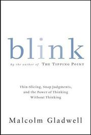 Cover of: Blink | Malcolm Gladwell