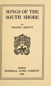 Cover of: Songs of the south shore