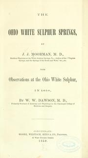 Cover of: The Ohio White Sulphur springs