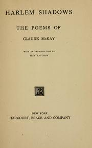 Cover of: Harlem shadows | Claude McKay