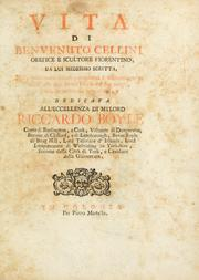Cover of: Vita di Benvenuto Cellini orefice e scultore fiorentino