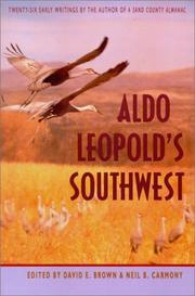 Cover of: Aldo Leopold