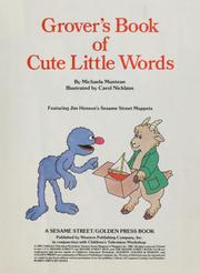 Cover of: Grover's book of cute little words