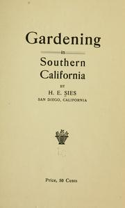 Cover of: Gardening in southern California | Herbert Eugene Sies