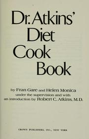 Cover of: Dr. Atkins' Diet Cook Book