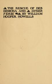 Cover of: The rescue of Desdemona | William Hooper Howells