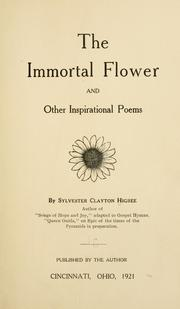 Cover of: The immortal flower: and other inspirational poems