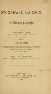 Cover of: Stonewall Jackson: a military biography