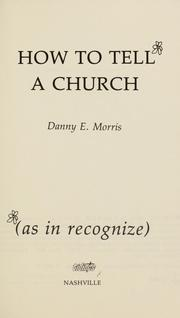 Cover of: How to tell a church (as in recognize)