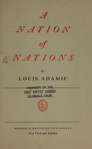 Cover of: A nation of nations
