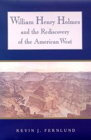 Cover of: William Henry Holmes and the rediscovery of the American West