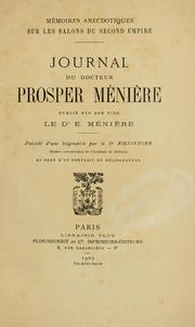 Cover of: Mémoires anecdotiques sur les salons du second empire