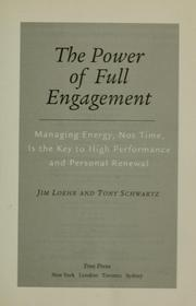 Cover of: The power of full engagement