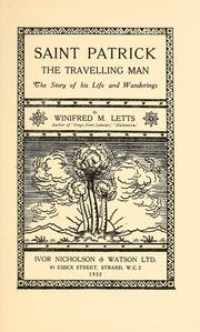 Cover of: Saint Patrick, the travelling man | W. M. Letts