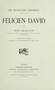 Cover of: Félicien David