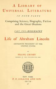 Cover of: Life of Abraham Lincoln