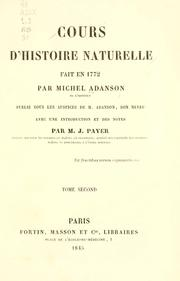 Cover of: Cours d'histoire naturelle