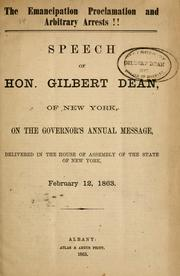 Cover of: emancipation proclamation and arbitrary arrests!! | Gilbert Dean