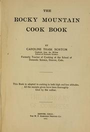 Cover of: The Rocky mountain cook book